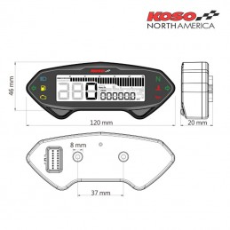 Compteur de vitesse mutlifonctions KOSO DB01-RN