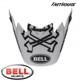 Visière BELL MOTO 9 Flex FASTHOUSE WRWF White