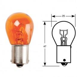 Ampoule BA15S 12V21W Orange