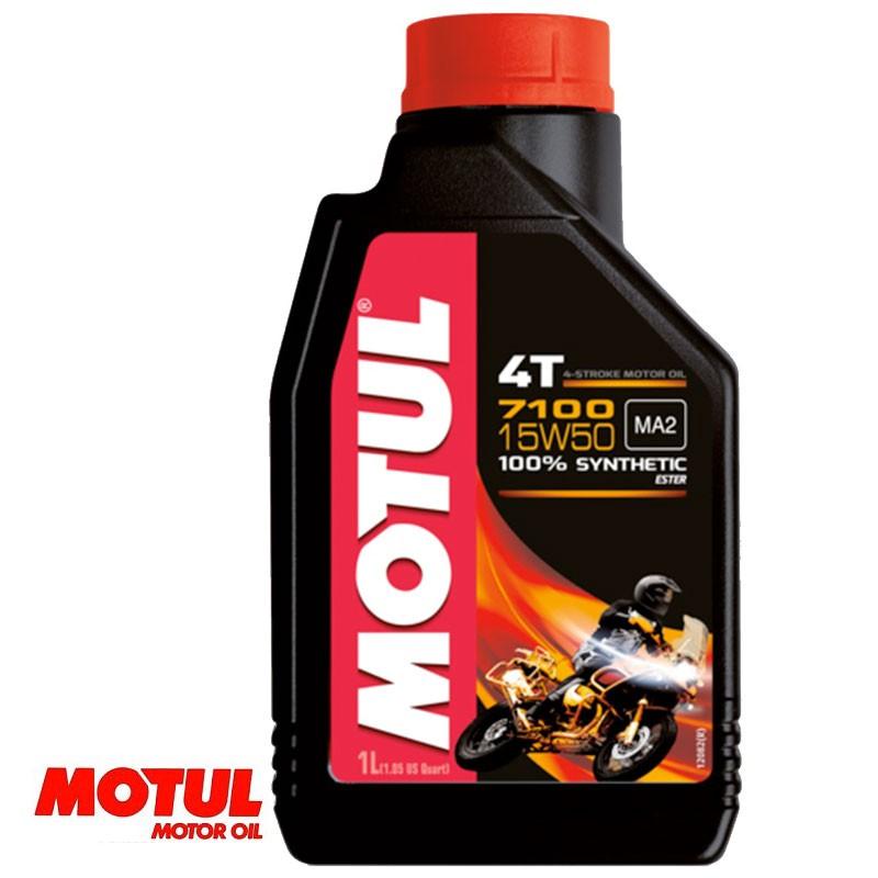 Huile moteur 4 temps MOTUL 7100 15W50 Bidon de 1 litre