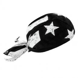 Flydanna coton flag-noir et blanc