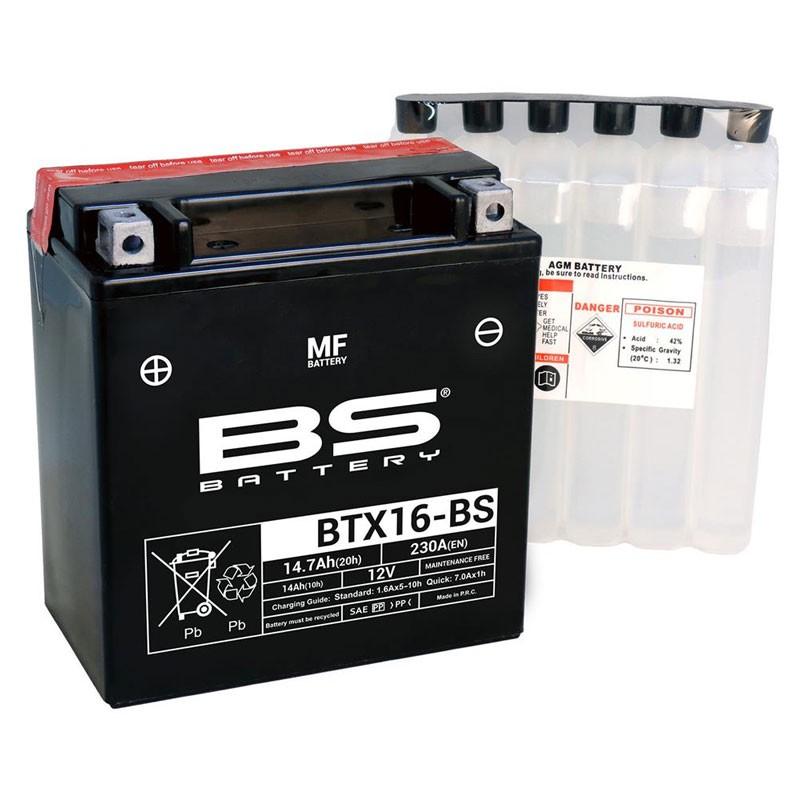 Batterie BS BTX16-BS + pack d'acide