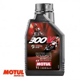 Huile moteur 4 temps MOTUL 300V² Factory Line 10W50 Bidon 1 litre