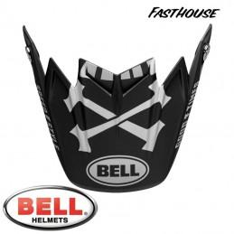 Visière BELL MOTO 9 FLEX FASTHOUSE WRWF Black-White-Gray