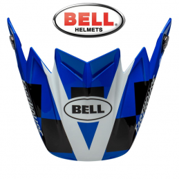Visière BELL MOTO 9 FLEX FASTHOUSE DID Blue-White