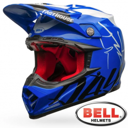 Casque BELL MOTO 9 Flex FASTHOUSE DID Blue-White