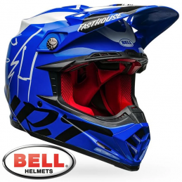 Casque BELL MOTO 9 Flex FASTHOUSE DID Blue
