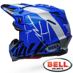 Casque BELL MOTO 9 FASTHOUSE DID Blue-White