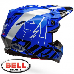 Casque BELL MOTO 9 FASTHOUSE DID Blue