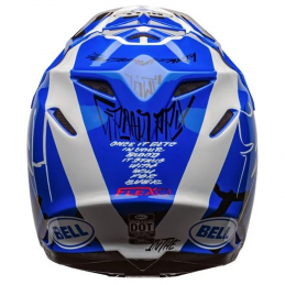 Casque BELL MOTO 9 FASTHOUSE DID Blue-White 2020