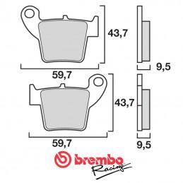 Plaquettes de frein arrière BREMBO 150 CRF 2007-2019