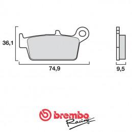 Plaquettes de frein arrière BREMBO 85 CR 2002-2007
