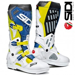 Bottes SIDI ATOJO SRS White-Yellow-Blue