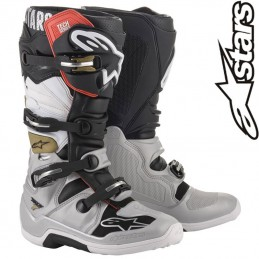 Bottes ALPINESTARS TECH 7 Silver-White-Gold