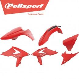 Kit plastique rouge POLISPORT BETA RR 2 tps 2013-2017