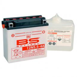 Batterie BS 12N5.5-4A livrée avec pack acide