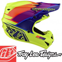 Casque polyacrylite TLD SE4 BETA yellow-purple
