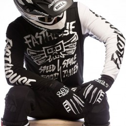 Maillot FASTHOUSE TRIBE black-white