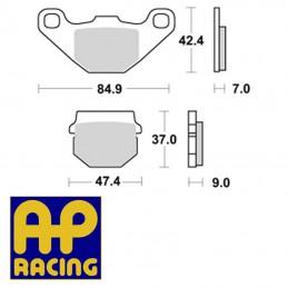Plaquettes de frein AP RACING LMP144OR