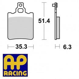 Plaquettes de frein AP RACING LMP174ST