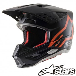 Casque ALPINESTARS S-M5 COMPASS Black-Orange