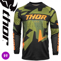 Maillot enfant THOR SECTOR Camo-Green