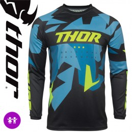 Maillot enfant THOR SECTOR Camo-Blue
