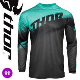 Maillot enfant THOR SECTOR Mint-Charcoal