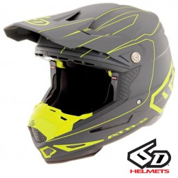 Casque 6D ATR-2 Recon Gray-Yellow