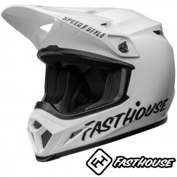 Casque BELL MX-9 FASTHOUSE Gloss white