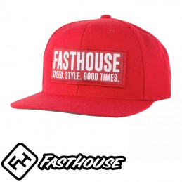 Casquette FASTHOUSE Blockhouse red