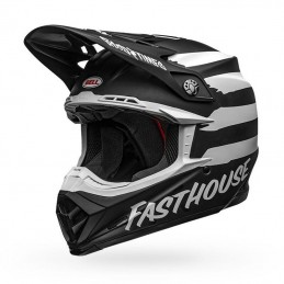 Casque BELL MOTO-9 FASTHOUSE Signia black-white