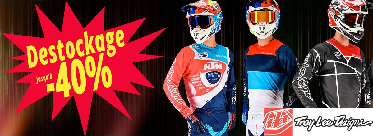Destockage Troy Lee Designs jusqu'à - 40%